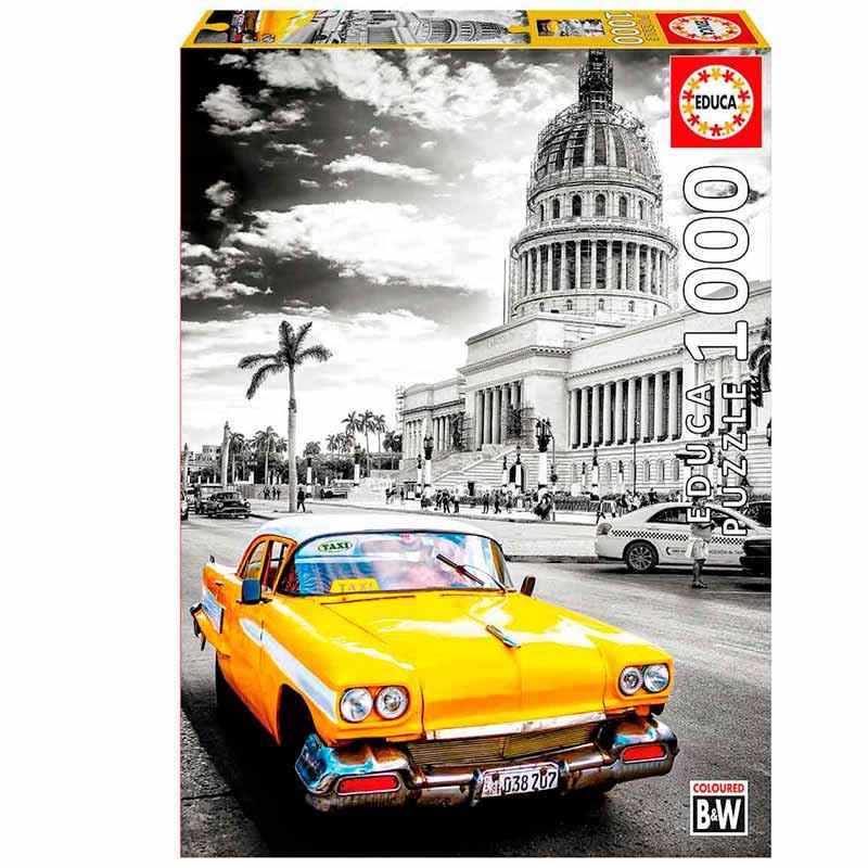 Educa puzzle 1000 Táxi em Havana, Cuba Coloured