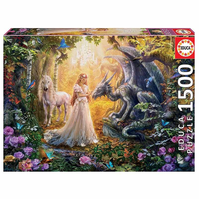 1500 Dragão, princesa e unicórnio