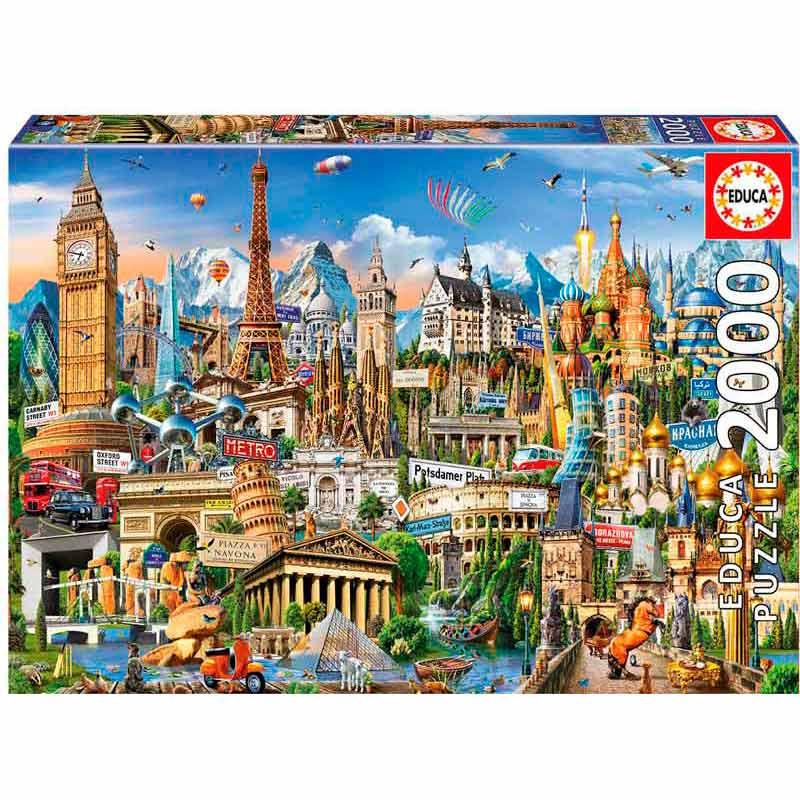 Educa puzzle 2000 Símbolos da Europa