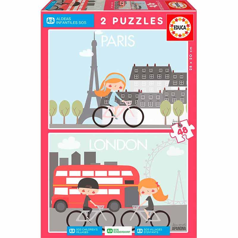 Educa puzzle Paris e Londres