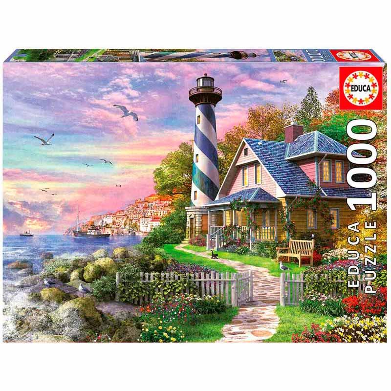 Educa puzzle 1000 Farol em Rock Bay
