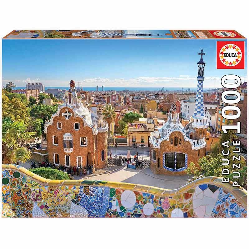 1000 Vista de Barcelona do Park Güell
