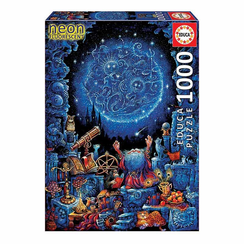 Educa puzzle 1000 o astrólogo neón