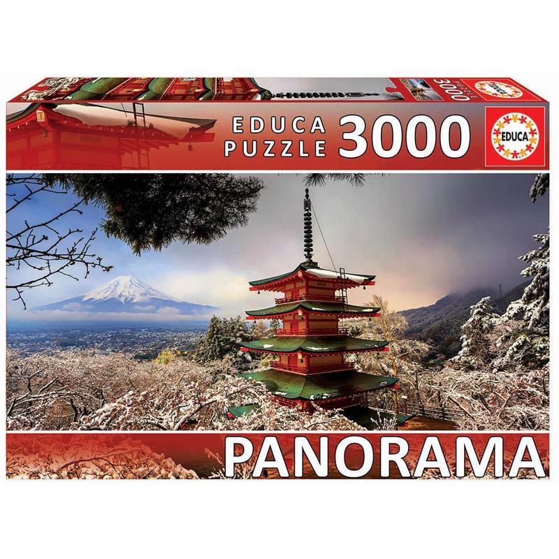 Educa 3000 monte Fuji e pagode Chureito Japão