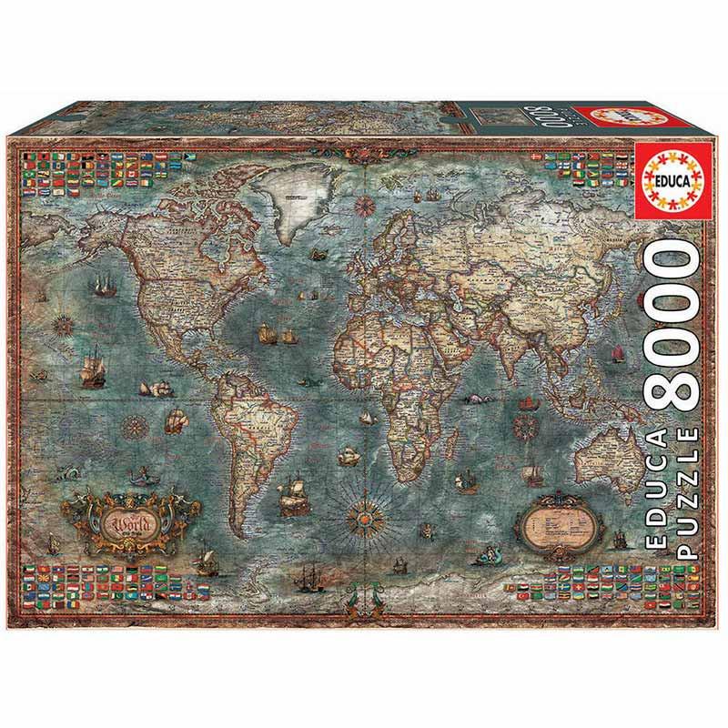 8000 Mapa histórico do mundo