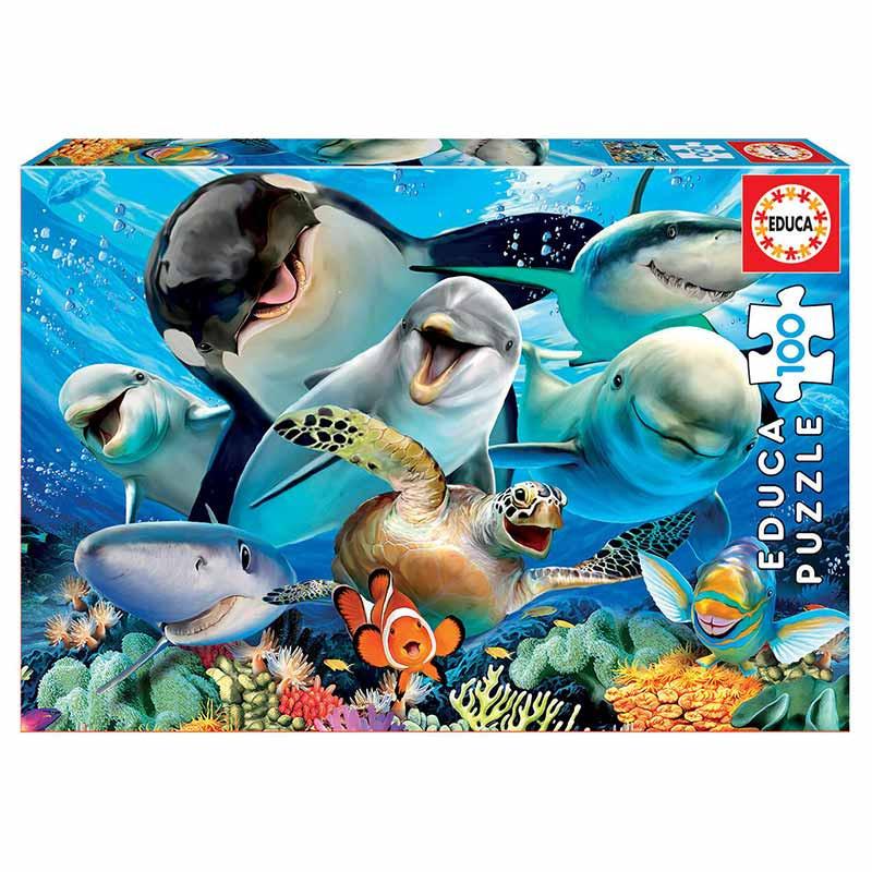 Educa puzzle 100 selfie debaixo da água