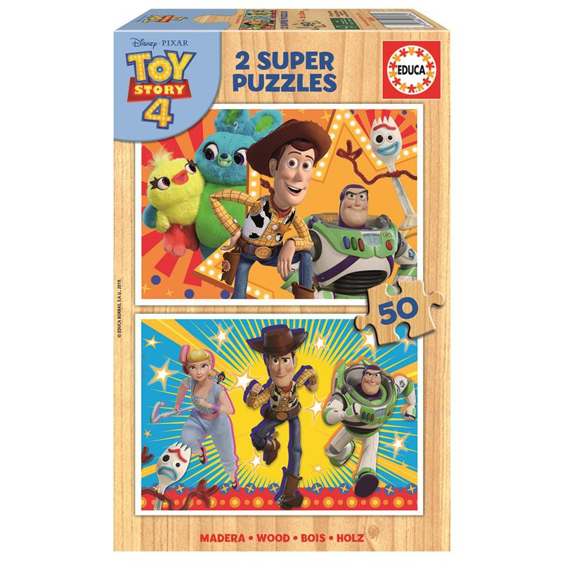 Educa Puzzle Madeira 2x50 Toy Story 4