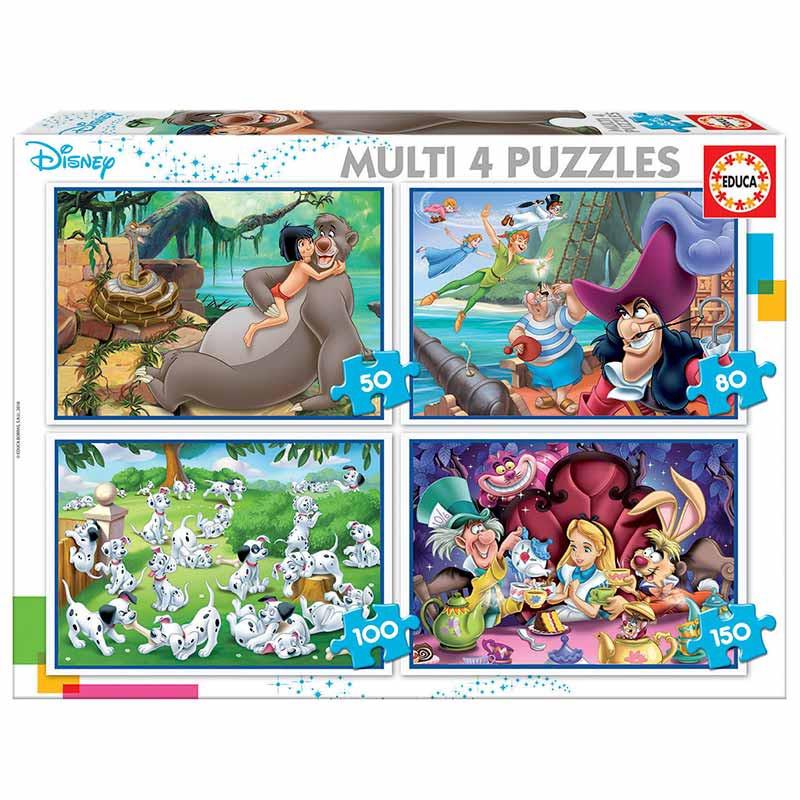 Educa puzzle multi clássicos Disney 50-80-100-150