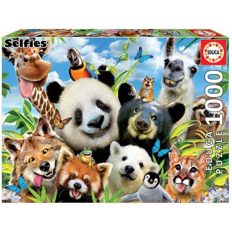 Educa Puzzle 1000 Lama Drama Selfie