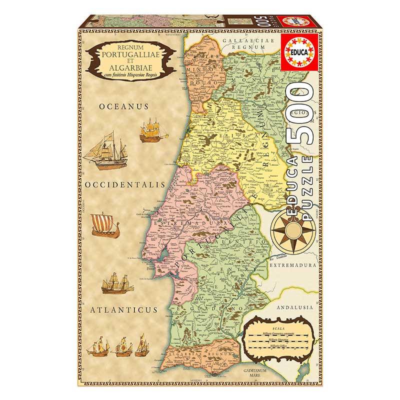 Educa Puzzle 500 Mapa Histórico Portugal