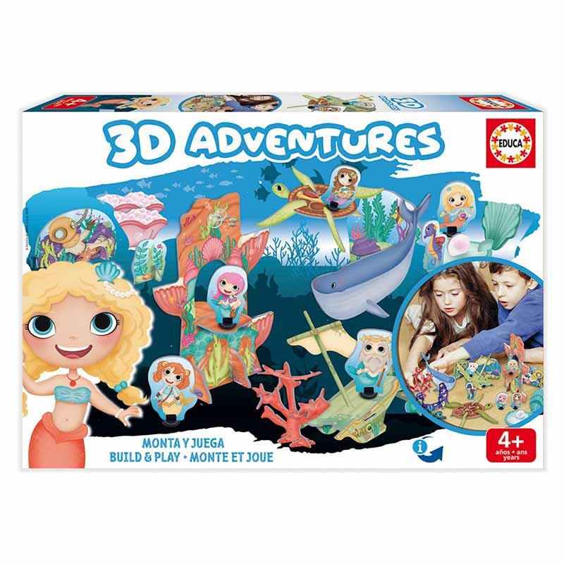 Educa 3D aventuras sereias