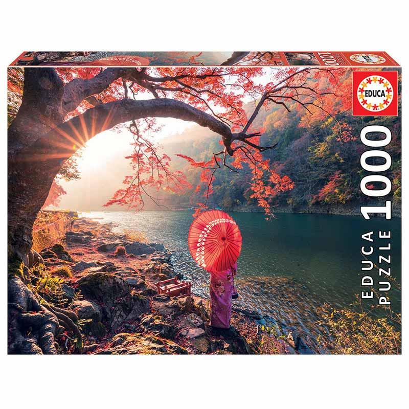 Educa puzzle 1000 amanhecer no rio Katsura Japão