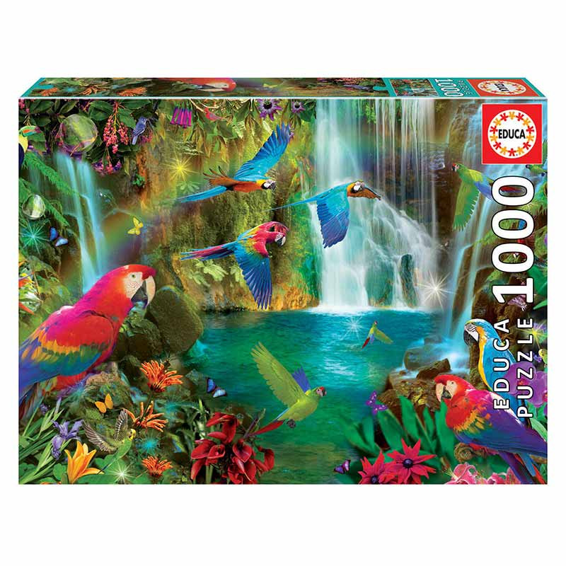 Educa puzzle 1000 papagaios tropicais