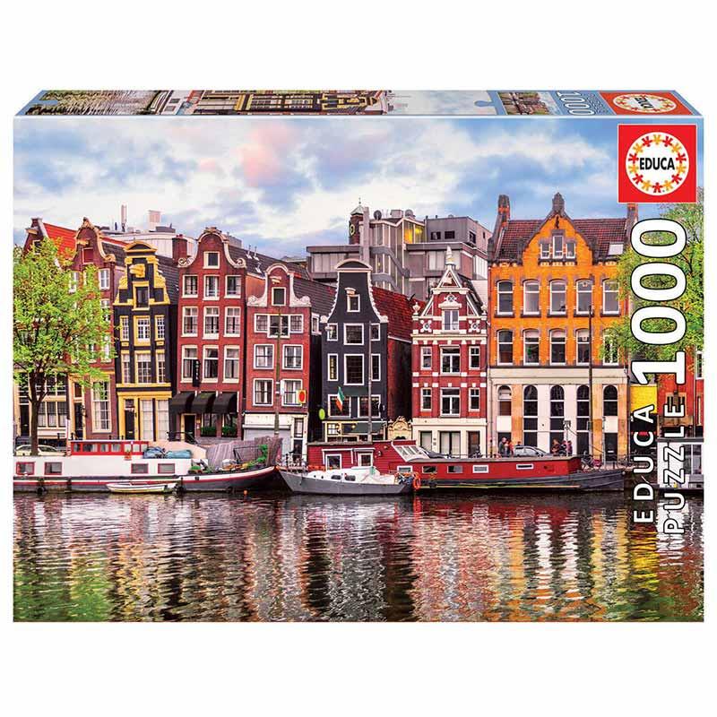 Educa puzzle 1000 casas dançantes Amsterdam