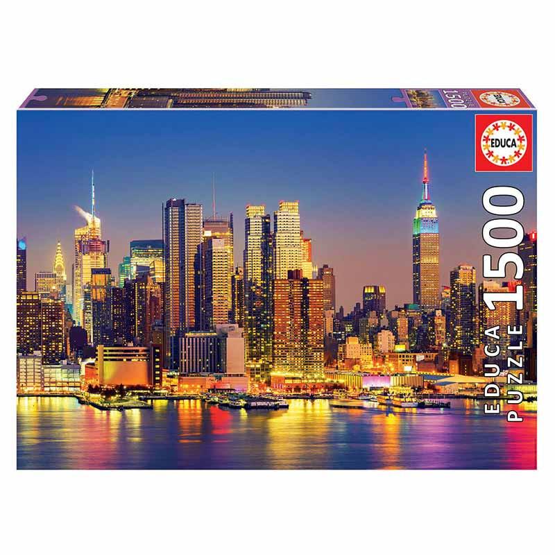 Educa puzzle 1500 Manhattan de noite