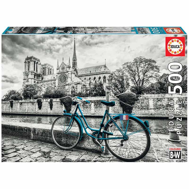 Educa puzzle 500 bicicleta perto de Notre Dame