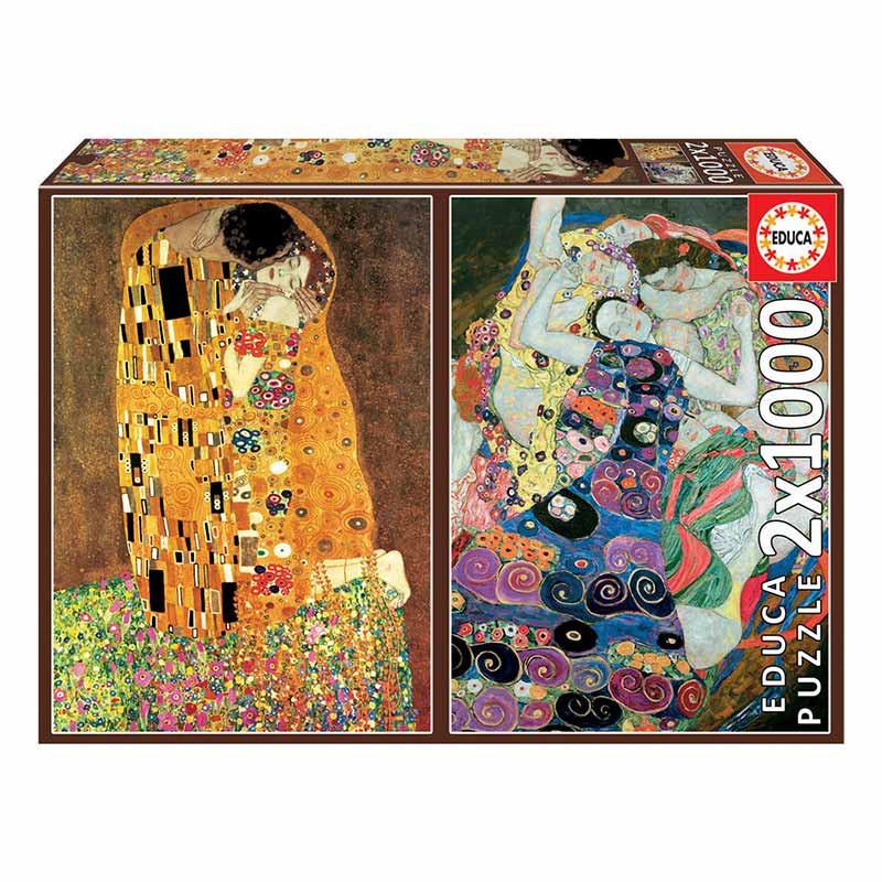 Educa puzzle 2x1000 O beijo e A virgem Klimt