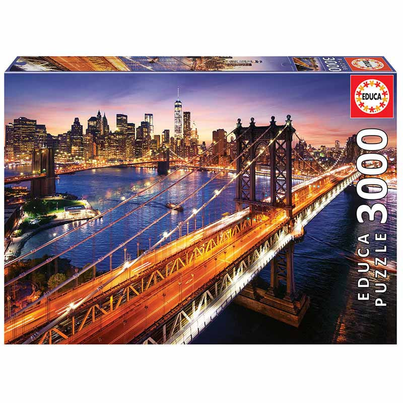 Educa puzzle 3000 entardecer Manhattan