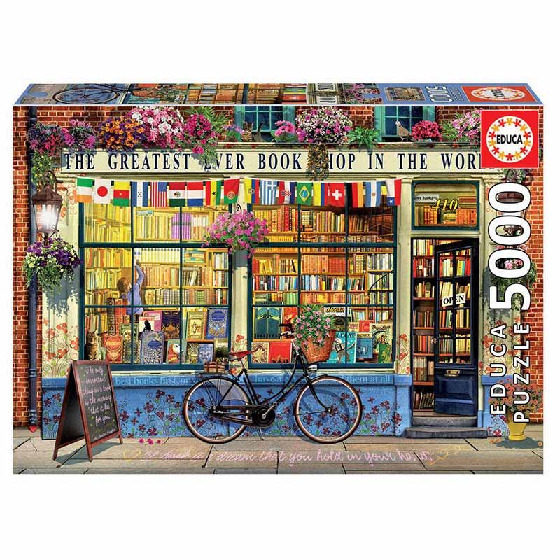 Educa puzzle 5000 a melhor livraria do mundo