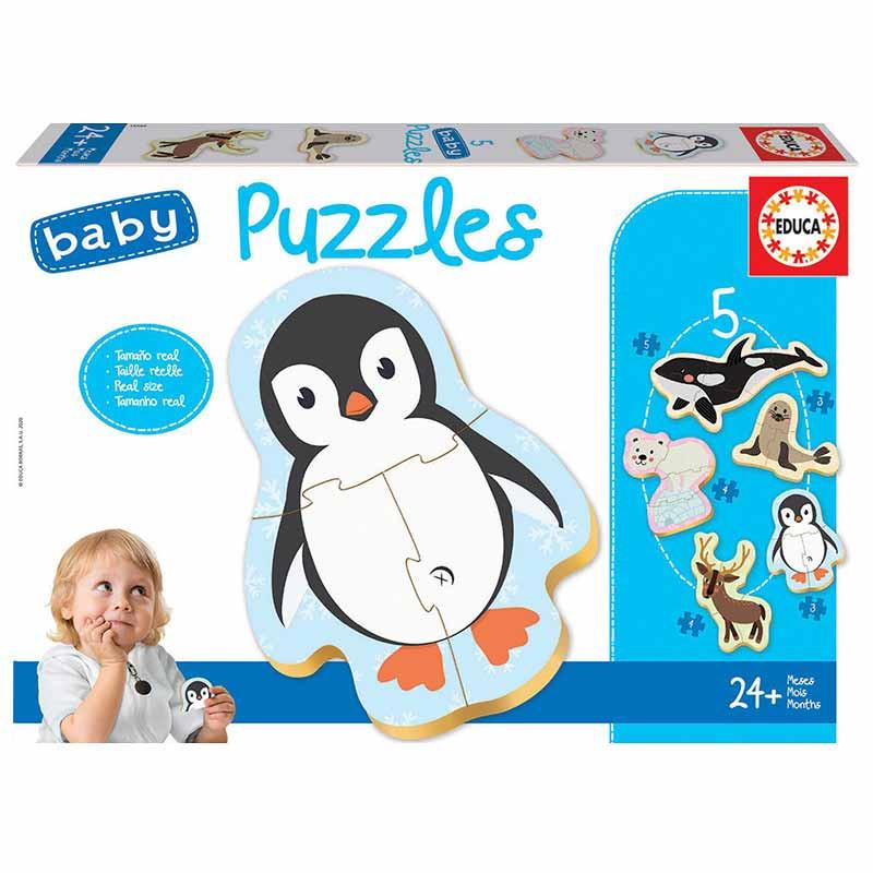 Educa Baby puzzle animais polo norte