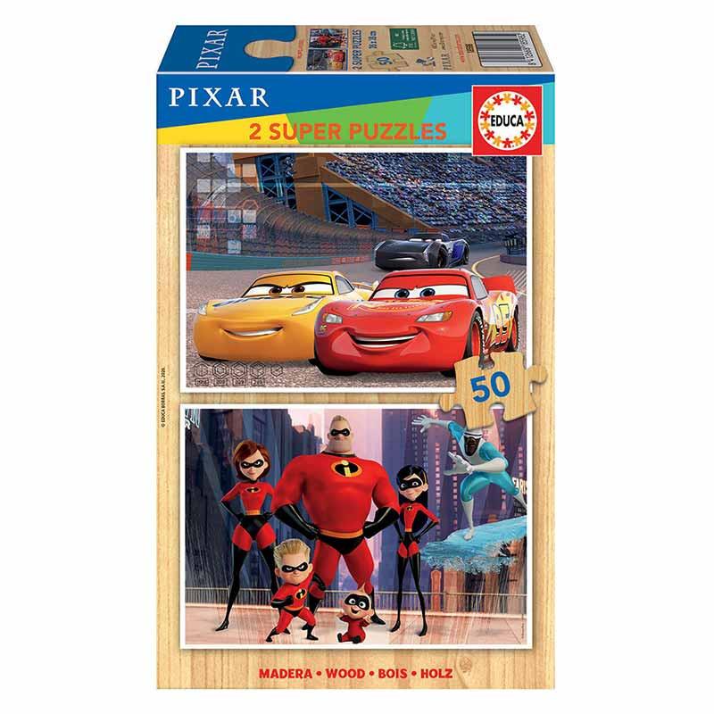 Educa madeira 2x50 Disney Pixar