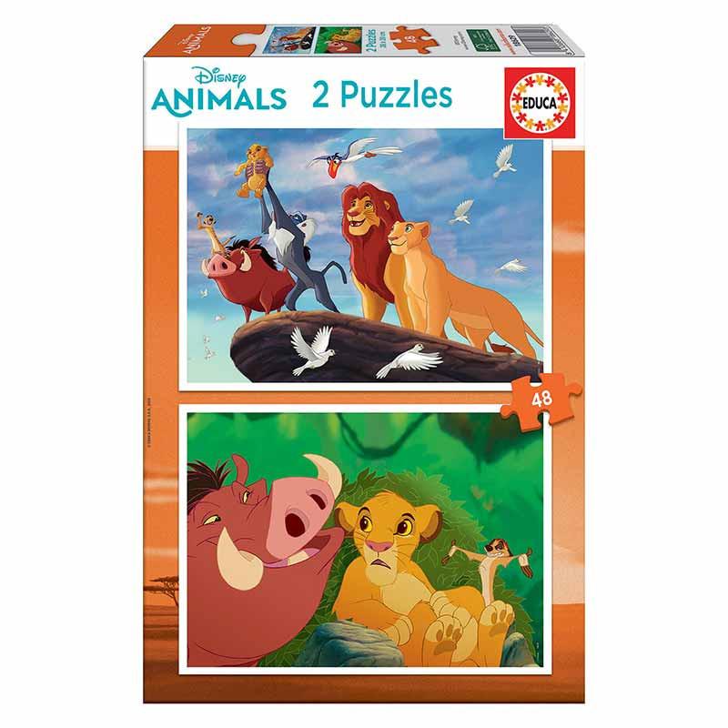 Educa puzzle 2x48 O Rei Leão