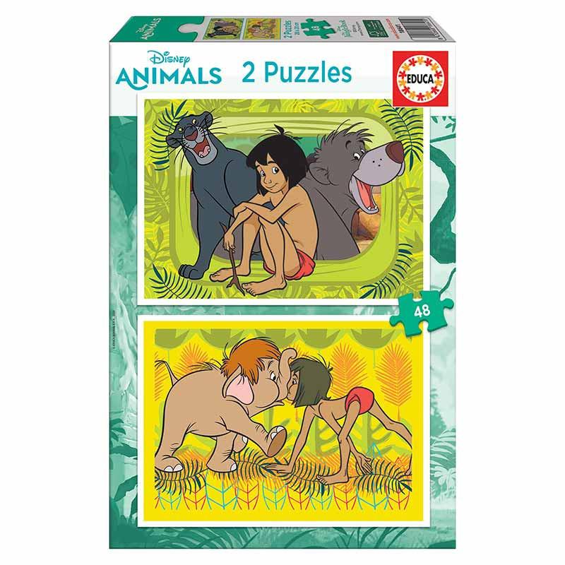 Educa puzzle 2x48 Jungle book