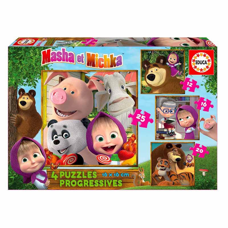 Educa puzzle progressivo Masha e o urso