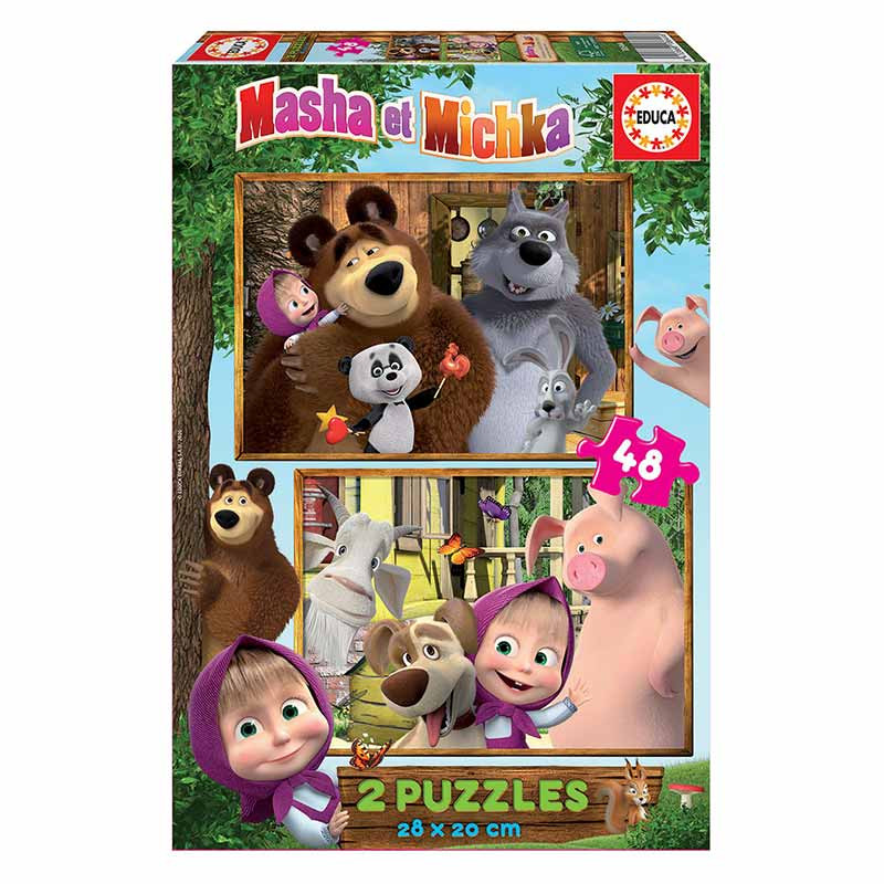 Educa puzzle 2x48 Masha e o urso
