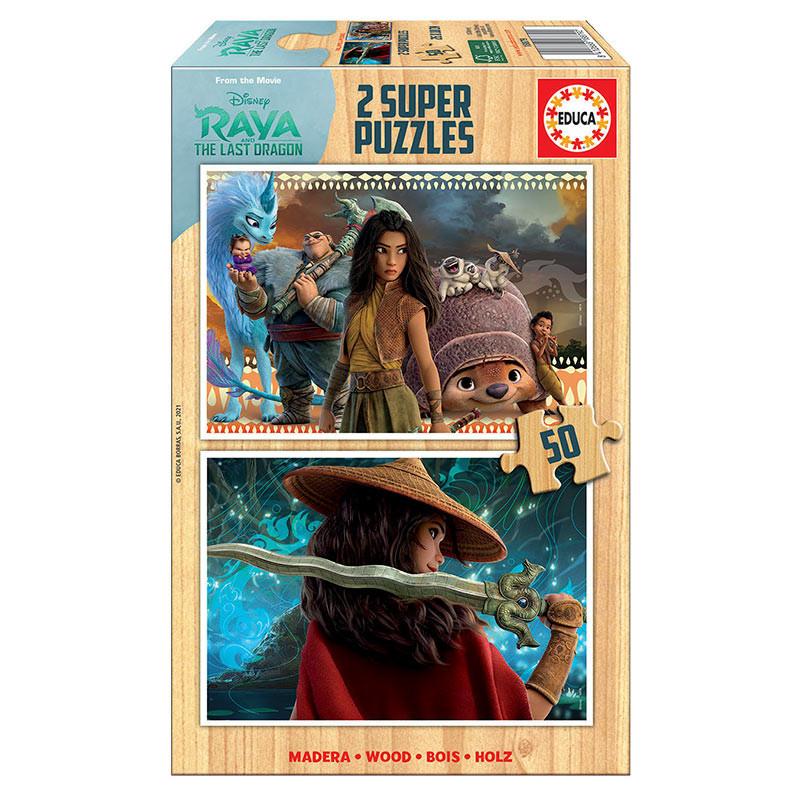 Educa puzzle madeira 2X50 raya e o último dragão