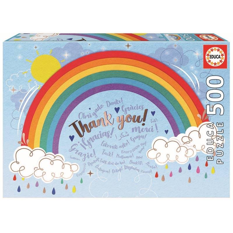 Educa puzzle 500 rainbow thank you!