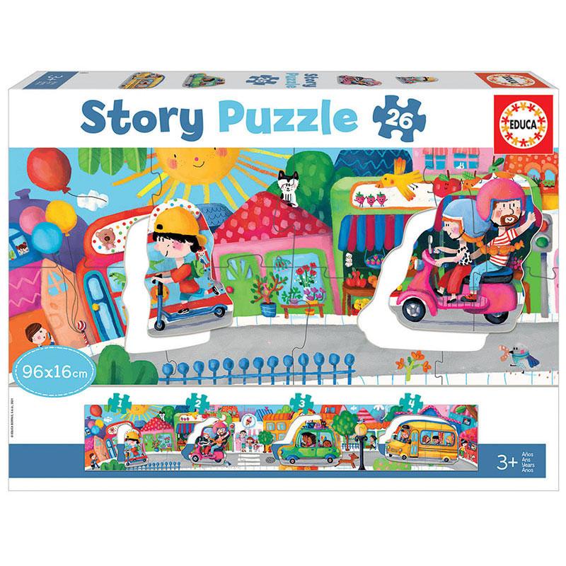 Educa veicúlos na cidade Story puzzle 26 peças