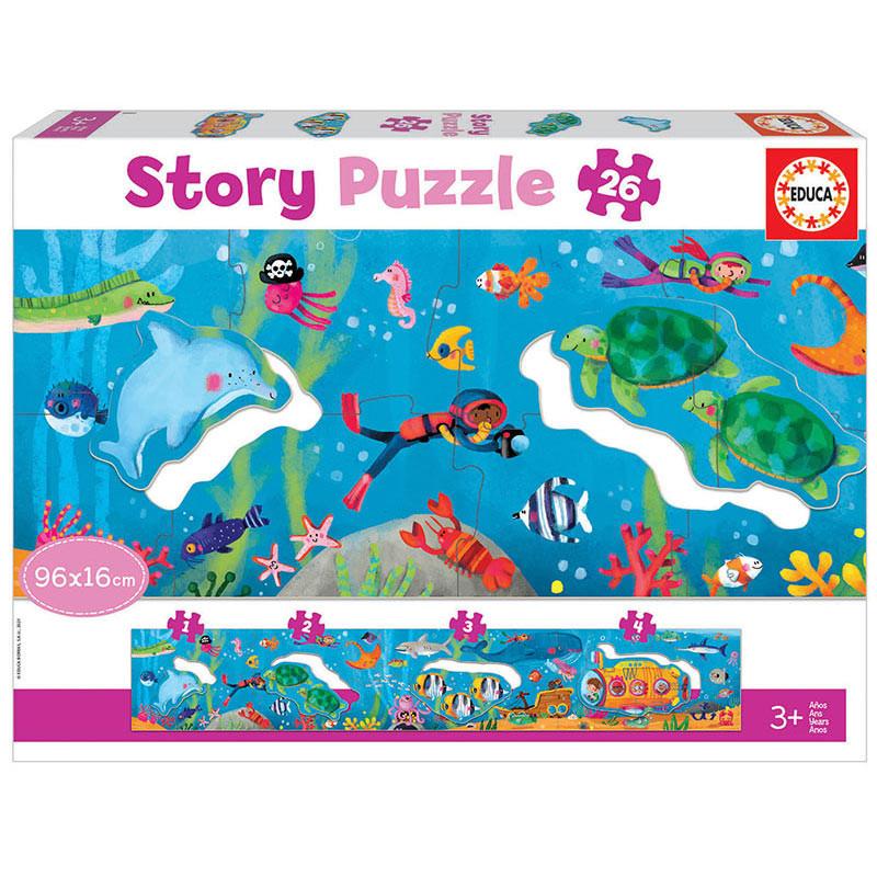 Puzzle Panorâmico 26 pcs Story Mundo Submarino