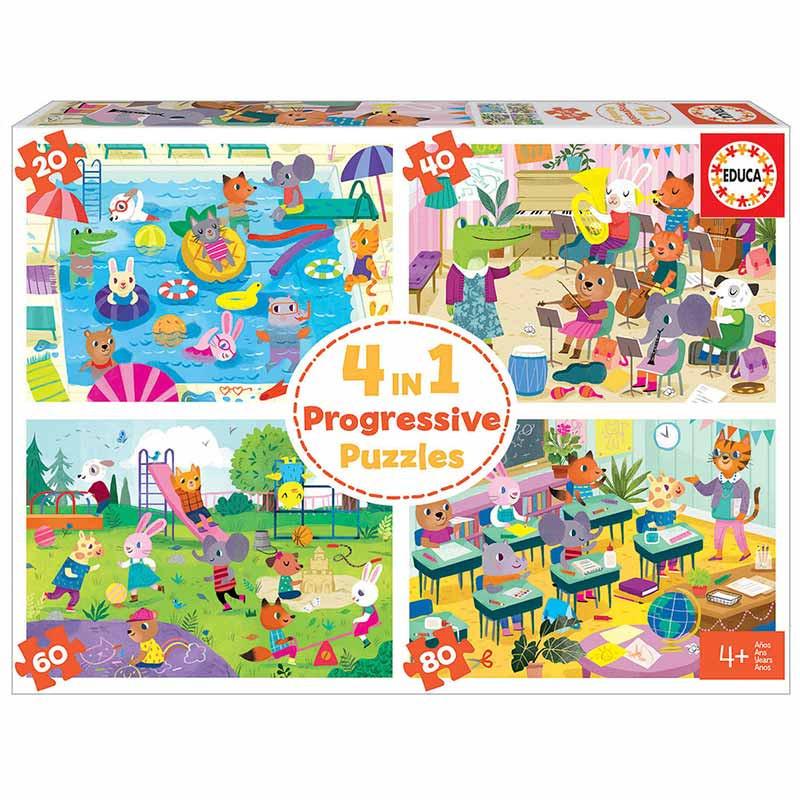 Heróis de ação puzzle progressivo