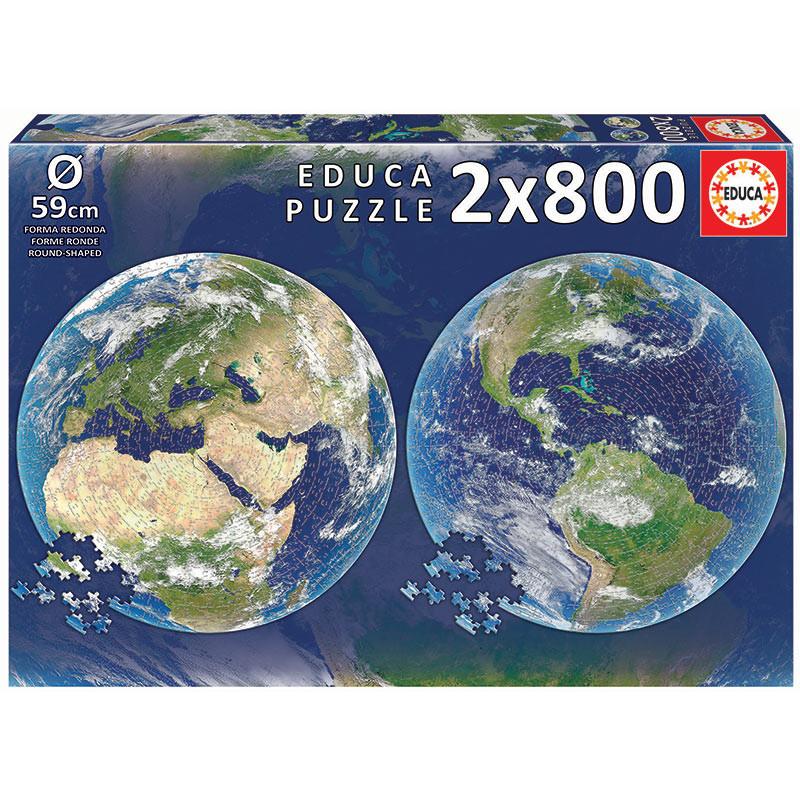 2x800 Planeta Terra Round Puz