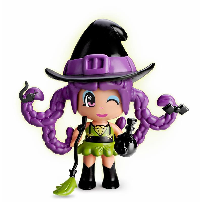 Pinypon bruxinha cabelo púrpura