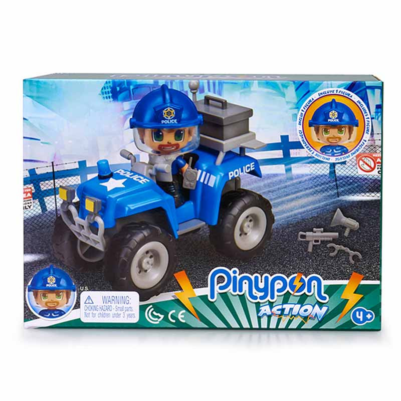 Pinypon Action policia com quad