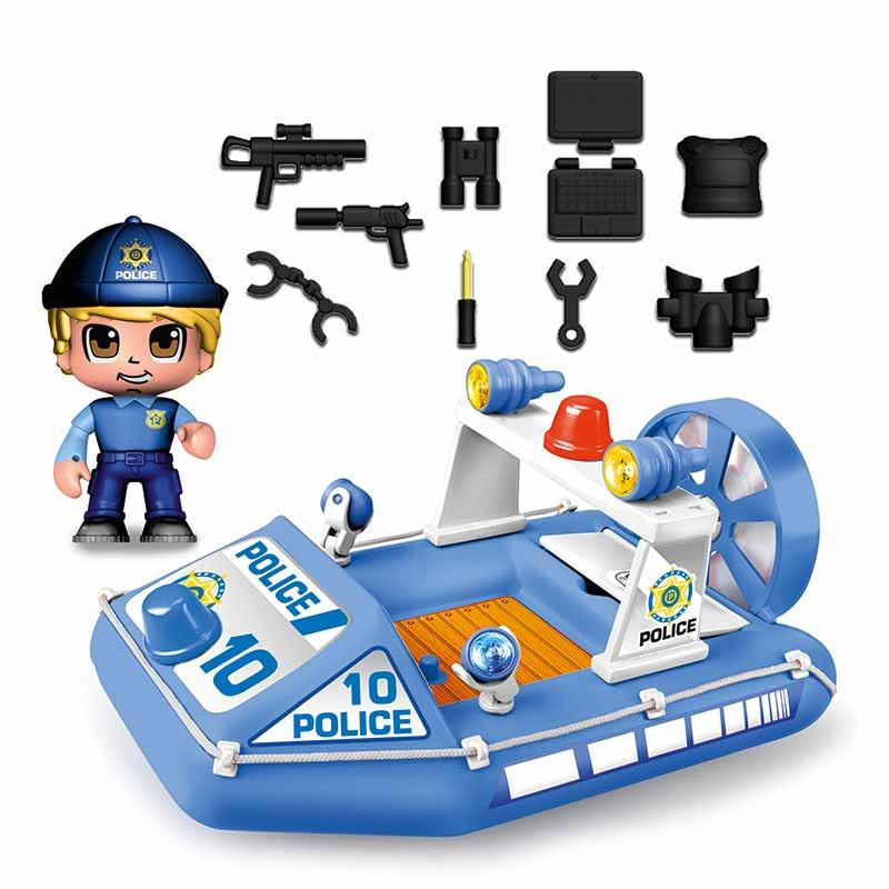 Pinypon Action lancha de policia e figura