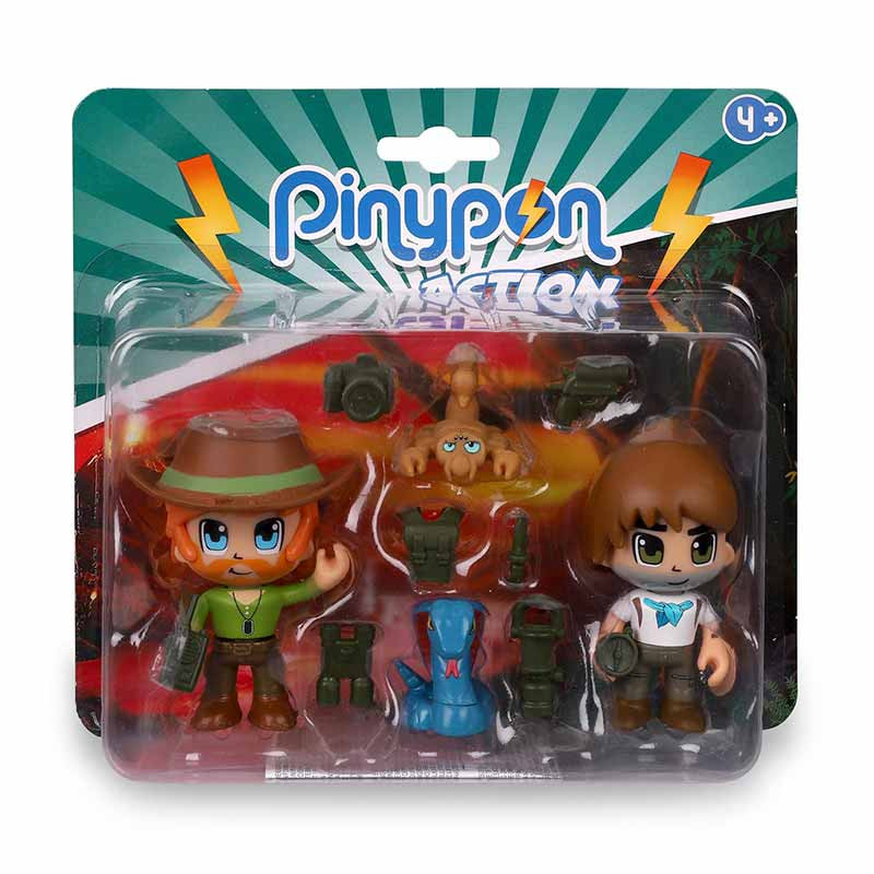 Pinypon Action Wild 2 figuras e animais