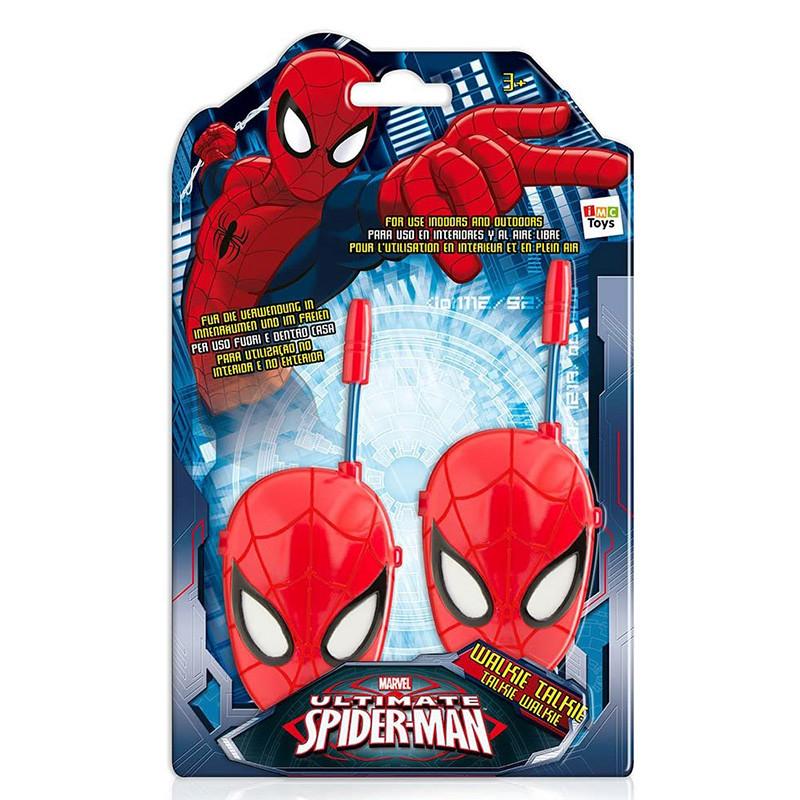 Spiderman walkie talkie cara