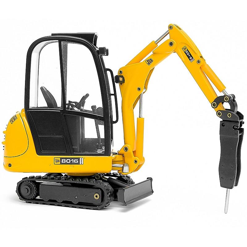 Mini escavadora JCB 8016 c/martelo hidr. 1:25