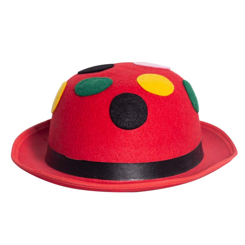 Chapéu-coco Vermelho com pontos
