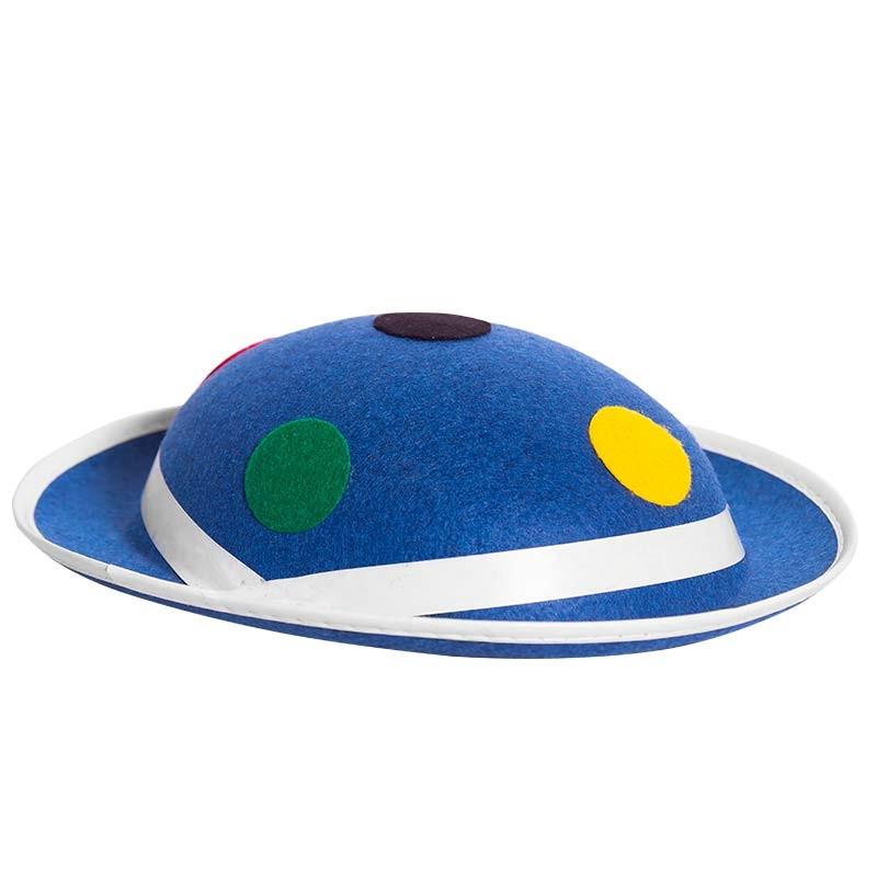 Chapéu-coco Azul com pontos