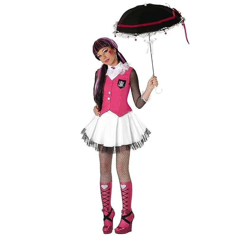 Disfarce Monster High Draculaura com peruca