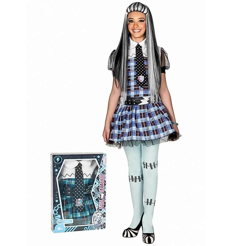 Disfarce Monster High Frankie Stein com peruca
