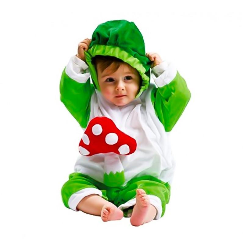 Disfarce peluche Cogumelo Verde bebé