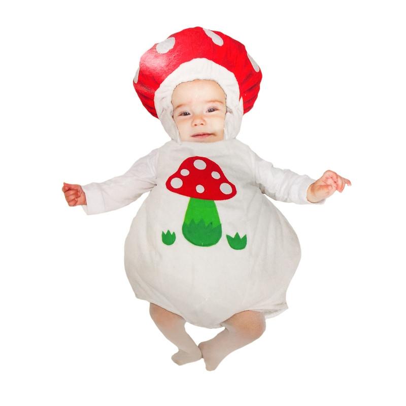 Disfarce peluche Cogumelo Branco bebé
