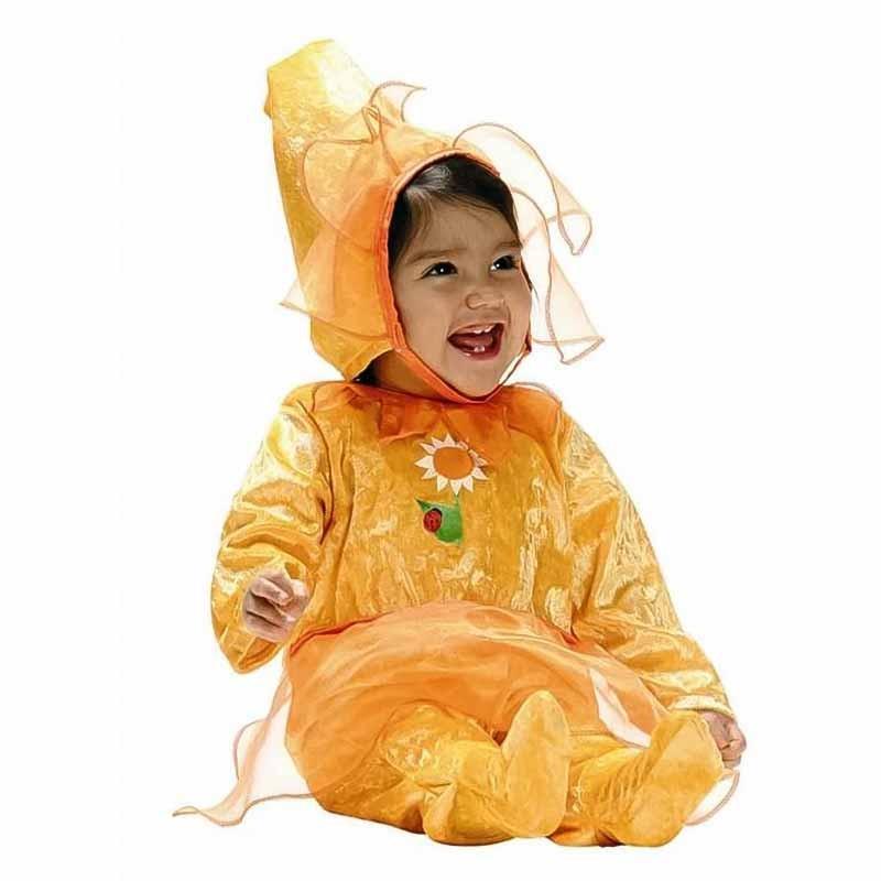 Disfarce Flor Amarela Bebe