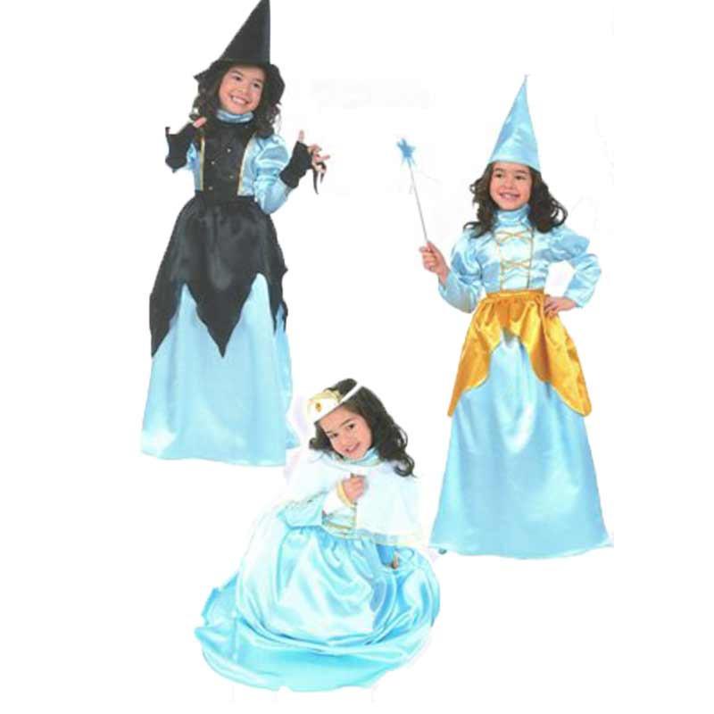 Disfarce fada, princesa e Bruxa Infantil Halloween