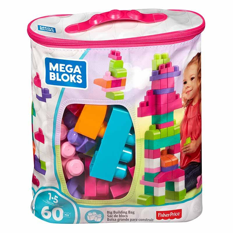Mega Bloks mega bolsa 60 peças rosa